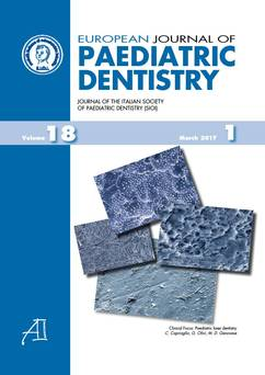 European Journal of Paediatric Dentistry n.1