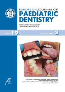European Journal of Paediatric Dentistry n.3